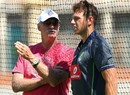Dennis Lillee has a word with James Pattinson