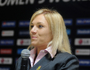 Mignon du Preez talks at a press conference