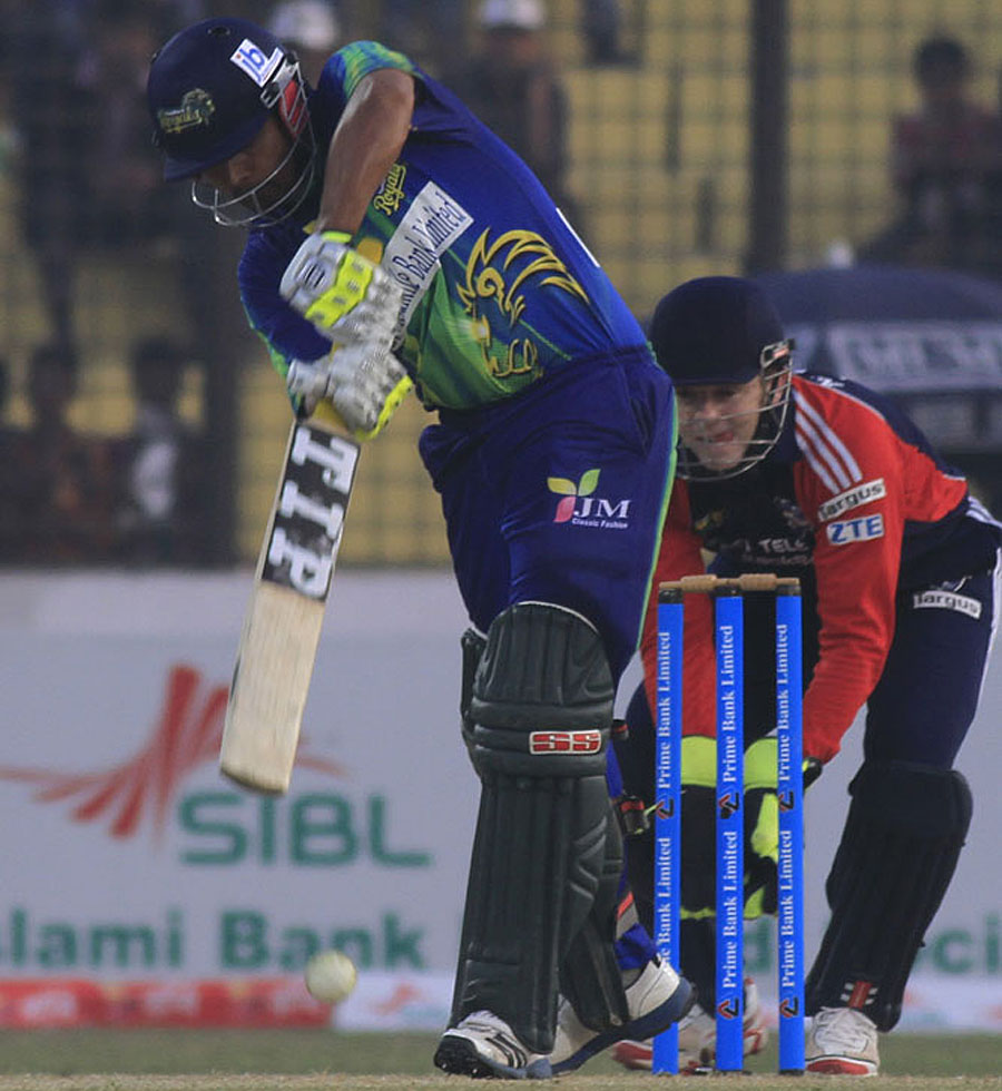 Nazmul Hosain Milon steered Sylhet Royals to victory with an unbeaten 45