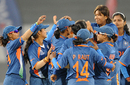 India celebrate after Kycia Knight is run out, India v West Indies, Women's World Cup 2013, Group A, Mumbai, January 31, 2013