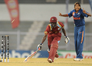 West Indies' Kycia Knight falls short of making the crease, India v West Indies, Women's World Cup 2013, Group A, Mumbai, January 31, 2013