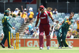 Mitchell Starc consistently troubled West Indies' batsmen, Australia v West Indies, 1st ODI, Perth, February 1, 2013
