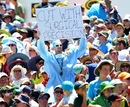 A fan sums up West Indies' day at the WACA