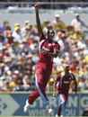 Jason Holder appeals, Australia v West Indies, 1st ODI, Perth, February 1, 2013