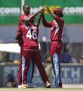 Jason Holder took the only Australian wicket to fall, Australia v West Indies, 1st ODI, Perth, February 1, 2013