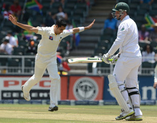 Umar Gul had Graeme Smith caught behind, South Africa v Pakistan, 1st Test, Johannesburg, February 1, 2013