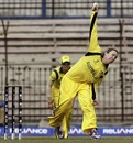 Sarah Coyte was Australia's most productive bowler, with 3 for 20 off her ten overs, Australia v Pakistan, Women's World Cup 2013, Group B, Cuttack, February 1, 2013
