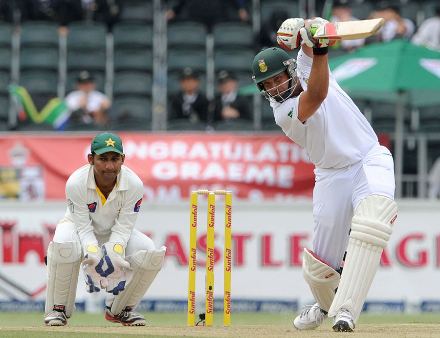 Jacques Kallis drives during his half-century