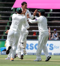 Younis Khan claimed the key wicket of Hashim Amla