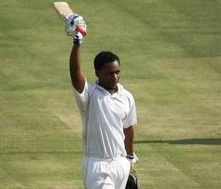 Mashonaland Eagles' Chamu Chibhabha scored a century, Mashonaland Eagles v Matabeleland Tuskers, Logan Cup, Harare, 4th day, February 1, 2013