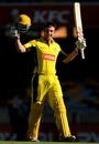 Shaun Marsh celebrates his hundred, Queensland v Western Australia, Ryobi Cup, Brisbane, February 2, 2013