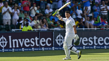 Graeme Smith scored a half-century in his 100th Test as captain