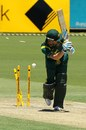 Michael Clarke's middle stump is knocked back
