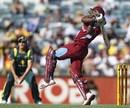 Dwayne Bravo resisted the Australian attack, scoring 45, Australia v West Indies, 2nd ODI, Perth, February 3, 2013