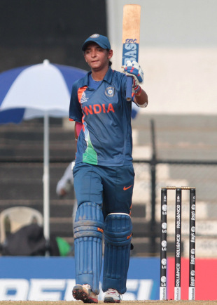 Harmanpreet Kaur scored an unbeaten century, India v England, Women's World Cup 2013, Group A, Mumbai, February 3, 2013