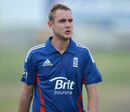 Stuart Broad bowled seven balls in his first competitive match after his injury, New Zealand XI v England XI, Twenty20, Whangerei, February 4, 2013