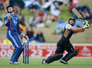 Anton Devcich flicks the ball behind him, New Zealand XI v England XI, Twenty20, Whangerei, February 4, 2013