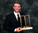 Phillip Hughes with the Domestic Player of the Year award