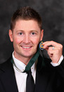 Michael Clarke with his Allan Border medal