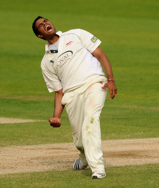 Jigar Naik took 7 for 96, Surrey v Leicestershire, County Championship Division Two, The Ova,, 2nd day, June 6, 2010