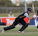 Luke Ronchi drives through the off side, New Zealand XI v England XI, Twenty20, Whangarei, February 5, 2013