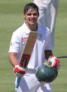 David Bedingham celebrates his hundred, South Africa U-19s v England U-19s, 2nd Youth Test, Paarl, 3rd day, February 5, 2013