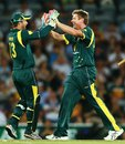 James Faulkner celebrates one of his four wickets