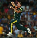 James Faulkner in delivery stride, Australia v West Indies, 3rd ODI, Canberra, February 6, 2013