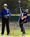 Victoria legspinner Fawad Ahmed took 2 for 30, Victoria v England Lions, tour match, Junction Oval, Melbourne, February 7, 2013