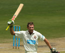 Greg Moller hit his maiden first-class hundred but couldn't stop Queensland losing, Queensland v Western Australia, Sheffield Shield, Brisbane, February 7, 2013