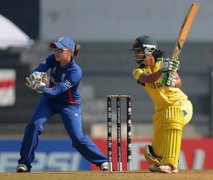 Lisa Sthalekar scored 41 and took 1 for 19 in her ten overs, Australia v England, Women's World Cup 2013, Super Six, Mumbai, February 8, 2013