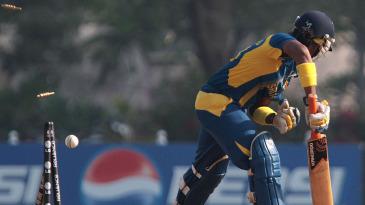 Chamari Atapattu was bowled for a duck