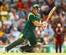 Aaron Finch plays one behind point, Australia v West Indies, 4th ODI, Sydney, February 8, 2013