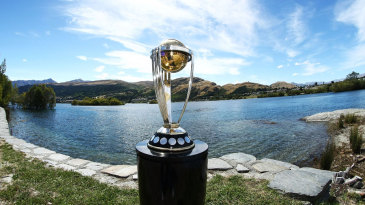It's two years till the 2015 World Cup; the trophy goes on display in Queenstown