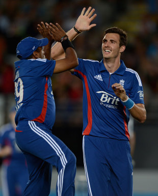 Steven Finn took three wickets, New Zealand v England, 1st T20, Auckland, February 9, 2013