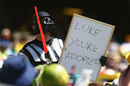A spectator dresses up as Darth Vader, Australia v West Indies, 4th ODI, Sydney, February 8, 2013