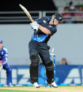 Colin Munro was bowled after a brisk 28, New Zealand v England, 1st T20, Auckland, February 9, 2013