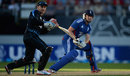Jonny Bairstow steers the ball wide of Brendon McCullum, New Zealand v England, 1st T20, Auckland, February 9, 2013