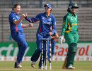 England's Anya Shrubsole took five wickets for 17 runs against South Africa, England v South Africa, Women's World Cup 2013, Super-Six match, Cuttack, February 10, 2013