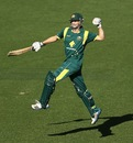 Adam Voges celebrates is maiden hundred, Australia v West Indies, 5th ODI, Melbourne, February 10, 2013