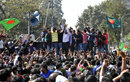 Some of Bangladesh's top cricketers attended a protest rally at the Shahbagh intersection, Dhaka, February 10, 2013