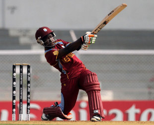 Deandra Dottin hit four fours and a six in her 27, New Zealand v West Indies, Super Six match, Women's World Cup 2013, Mumbai,  February 11, 2013