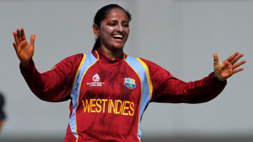 Anisa Mohammed got the crucial wicket of Suzie Bates