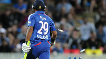 Samit Patel was run out by a direct hit