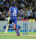 Samit Patel was run out by a direct hit, New Zealand v England, 2nd T20, Hamilton, February 12, 2013