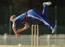 Ben Stokes makes a dramatic attempt at a run out, Victorian XI v England Lions, Tour match, Melbourne, February 11, 2013