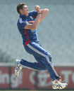 Craig Overton in action for England Lions, Victoria v England Lions, Tour match, Melbourne, February 13, 2013