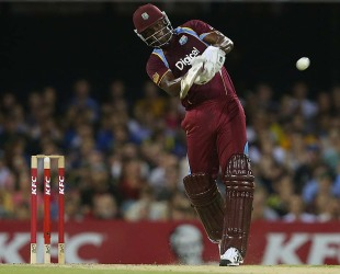Opener Johnson Charles scored a quick half-century, Australia v West Indies, only Twenty20, Brisbane, February 13, 2013