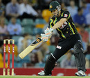 Adam Voges plays the cut, Australia v West Indies, only Twenty20, Brisbane, February 13, 2013