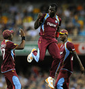 Darren Sammy celebrates a wicket, Australia v West Indies, only Twenty20, Brisbane, February 13, 2013